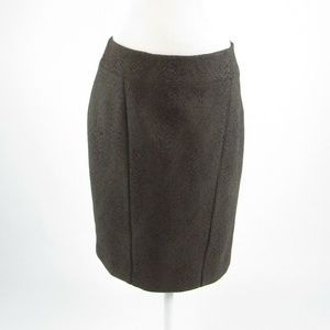 T Tahari green stretch pencil skirt 10